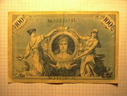 Szép 100 Márka Németország, 1908 !!