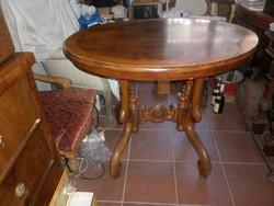 Antik neobarokk póklábú asztal