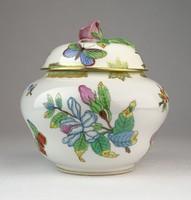0O520 Antik Herendi Viktória porcelán bonbonier