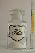 """""""Zinc. Oxydat."""" patikaüveg"""