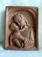 Anya gyermekével falikép, falidísz  14,5 x 11,5 cm