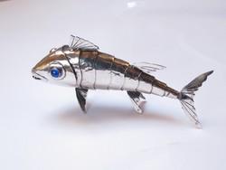 Perui ezüst hal,kézműves ritkaság!