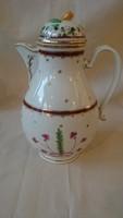 Különleges Altwien antik 18. századi teáskanna fedővel teljesen ép