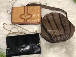 Három valódi kígyóbőr táska ,retikül