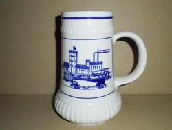 Német porcelán sörös korsó - GDR NDK Keletnémet -  CP Colditz Inglasur