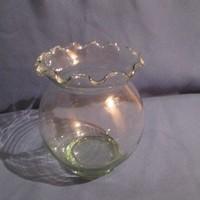 Üveg  öblös váza A074