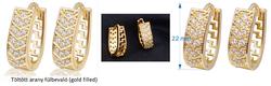 Töltött arany fülbevaló (gold filled)
