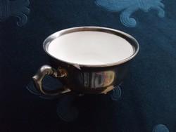 Antik ezüstözött porcelán kávés csésze-4 kis lábon-Koenigselt-Germany-1930