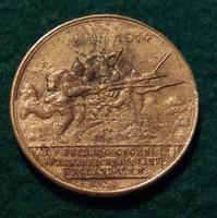 Ausztria Németország I. vh. 1914. Emlékérem.Réz, 7,9 g. 28 mm.