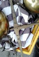 1736 évszámú aranyat drágakövet mérő mérleg réz