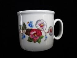 Zsolnay retró petúnia mintás teás csésze