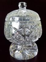 Nagy méretű ólom kristály bonbonier cukor tartó