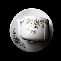Antik ibolyás teás csésze
