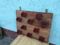 Loft vintage fali fűszernövény tartó szerszám tartó kerti dísz