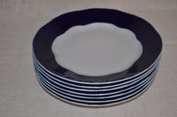 Zsolnay? 7 db lapos tányér  ( DBZ 00102 )