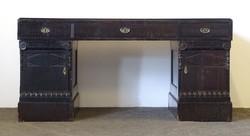 0Q184 Régi térbe helyezhető fekete íróasztal 160cm