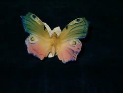 Hibátlan antik ENS porcelán pávaszemes pillangó