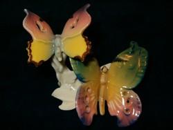 Hibátlan antik ENS porcelán pillangó pár