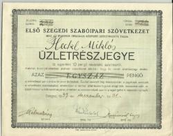 1937.-Első Szegedi Szabóipari Szövetkezet.