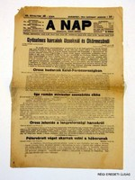 1915 január 30  /  A NAP  /  RÉGI EREDETI MAGYAR ÚJSÁG Szs.:  3925