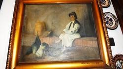DUNAY János,EREDETI, 55x68-s olajvászon