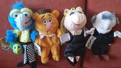 Kézi báb, játék maci, Muppet show figurák (4 db)