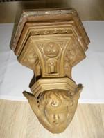 Régi cserép angyalkás szenteltvíztartó