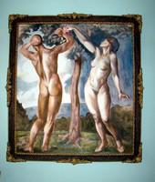 Ökvös András  Ádám Éva 110x120 cm olaj festmény