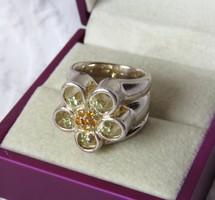 AKCIÓ! Monumentális, gyönyörű, virágos ezüst gyűrű - 25,4 gr