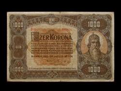 1000 KORONA - NAGYALAKÚ - REMEK BANKJEGY 1920