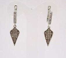Köves ezüst lógós fülbevaló (ZAL-Ag51198)