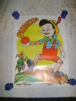 Retro moziplakát - Pinokkió