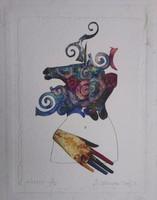 Szyksznian Wanda  35x30 cm merített papír