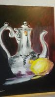 Szentes Zsuzsanna: Csendélet citrommal
