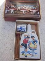 Retro pálinkás flaskakészlet-túlélő szett+doboz