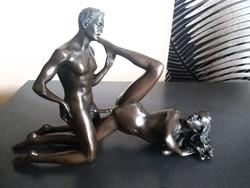 Erotikus jelenet 1 - bronz szobor