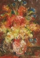"""LEÁRAZTAM! Gyönyörű akvarell ingyen postával! Nemes Tibor """"Csendélet"""" című akvarellje keretben"""