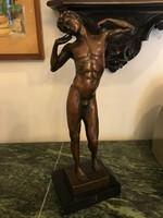 Antik Ádám bronz szobor