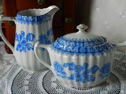 Régi Echt Tuppack Tiefenfurt porcelán kiöntő, cukortartó 1922-35