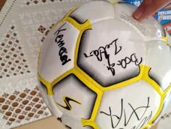 Nyvsc öregfiúk által dedikált labda