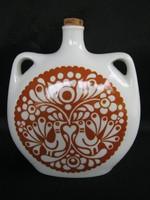 Alföldi porcelán páva motívumos kulacs