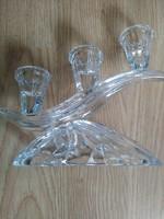 Antik üveg gyertyatartó