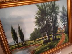 Olaj vászon festmény