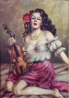 Szánthó Mária 120x87 cm