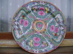 Gyönyörű antik Imari porcelán tál díszes peremmel 23 cm