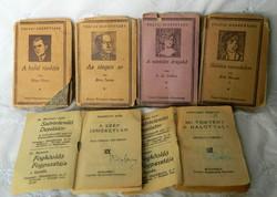 Tolnai regénytára régi miniatűr könyvek  6 db egyben, gyűjtői