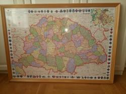 Nagy-Magyarország térkép műanyag lemezre nyomva