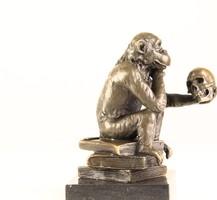 Darwison majom - bronz szobor