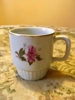 Antik régi ritka virágos Zsolnay bögre, csésze