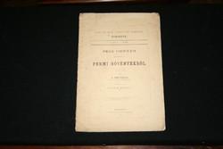 Pécs vidékén előforduló Permi nővényekről 1877